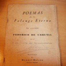 Libros antiguos: LIBRO POEMAS DE LA FALANGE ETERNA. Lote 68158729