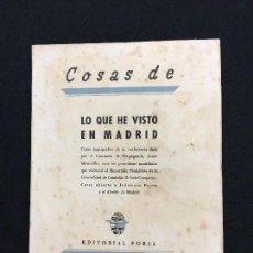 Libros antiguos: JAIME MIRAVITLLES. COSAS DE CATALUÑA. LO QUE HE VISTO EN MADRID. CATALANS CATALUNYA. 1936-1938.. Lote 80650426