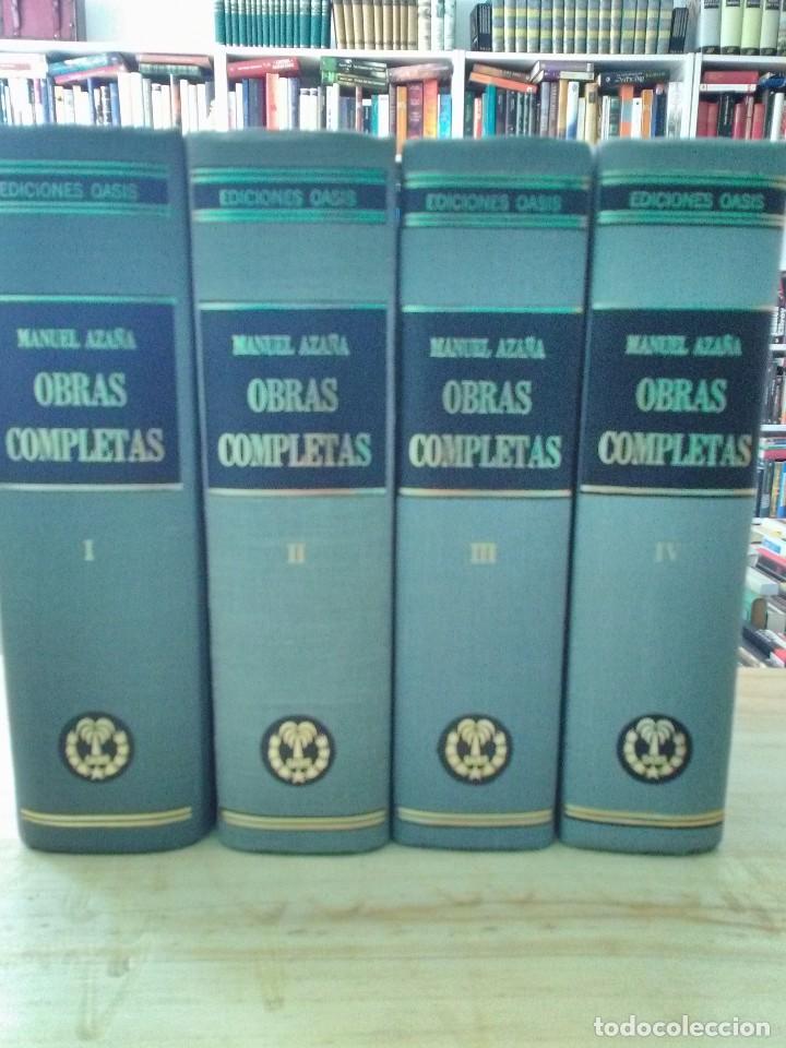 MANUEL AZAÑA OBRAS COMPLETAS - 4 TOMOS - OASIS 1966 (Libros antiguos (hasta 1936), raros y curiosos - Historia - Guerra Civil Española)