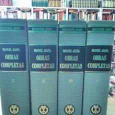 Libros antiguos: MANUEL AZAÑA OBRAS COMPLETAS - 4 TOMOS - OASIS 1966. Lote 82284684