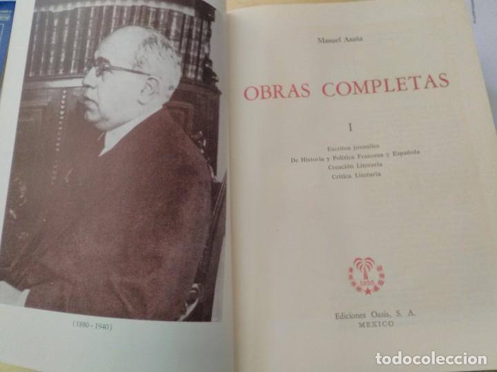 Libros antiguos: MANUEL AZAÑA OBRAS COMPLETAS - 4 TOMOS - OASIS 1966 - Foto 2 - 82284684