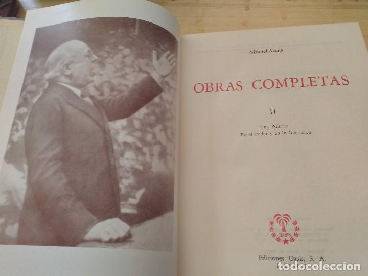 Libros antiguos: MANUEL AZAÑA OBRAS COMPLETAS - 4 TOMOS - OASIS 1966 - Foto 3 - 82284684