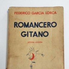 Libros antiguos: FEDERICO GARCÍA LORCA, ROMANCERO GITANO, MADRID 1936, AÑO GUERRA CIVIL ESPAÑOLA Y DE SU MUERTE. Lote 83923268