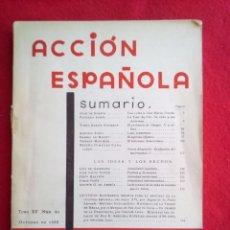 Libros antiguos: 1935 ACCION ESPAÑOLA NUM 80 800 GRS. Lote 92398265