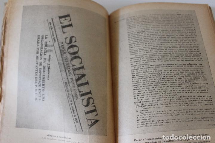 Libros antiguos: Espionaje en España. Max Rieger. Prefacio de José Bergamin. 1938. (Guerra Civil. POUM. Andreu Nin) - Foto 7 - 93682385