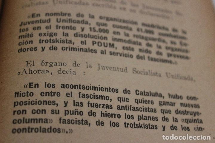 Libros antiguos: Espionaje en España. Max Rieger. Prefacio de José Bergamin. 1938. (Guerra Civil. POUM. Andreu Nin) - Foto 9 - 93682385