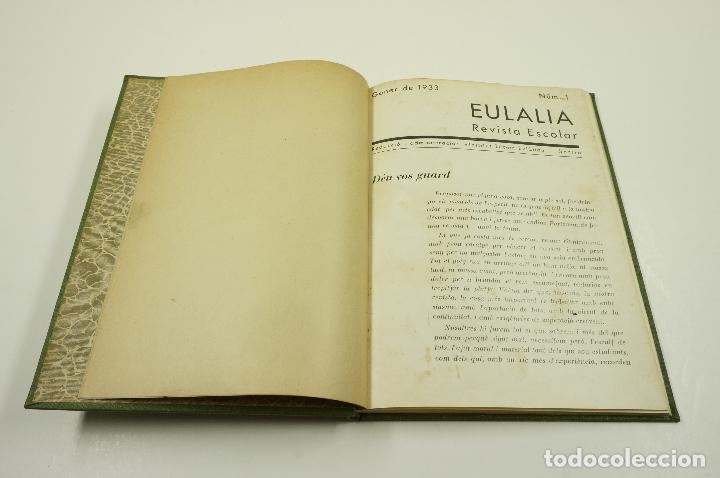 Libros antiguos: EULALIA REVISTA ESCOLAR, TOMO I, números de enero a junio de 1933. 16x22cm - Foto 2 - 101977459