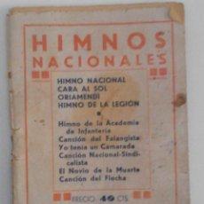 Libros antiguos: HIMNOS NACIONALES - CANCIONES DEL MOVIMIENTO. Lote 112723875