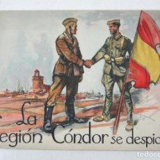 Libros antiguos: LA LEGIÓN CÓNDOR SE DESPIDE, 1939, IMPR. ALDUS, SANTANDER. 28X20CM. Lote 113566659