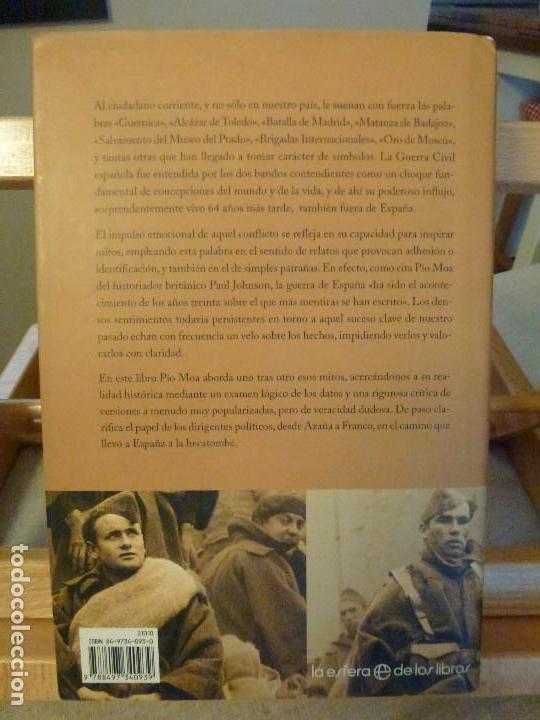 Libros antiguos: LOS MITOS DE LA GUERRA CIVIL - PIO MOA - Foto 2 - 114100091