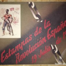 Libros antiguos: GUERRA CIVIL. C.N.T. F.A.I. ESTAMPAS DE LA REVOLUCIÓN ESPAÑOLA POR SIM 1936 ORIGINAL Y COMPLETO. Lote 116171423