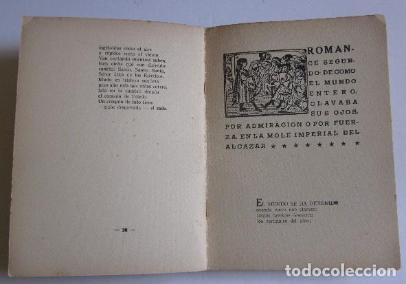 Libros antiguos: ROMANCERO DEL ALCAZAR - GUERRA CIVIL ESPAÑOLA - AÑO 1937 - Foto 5 - 116941451