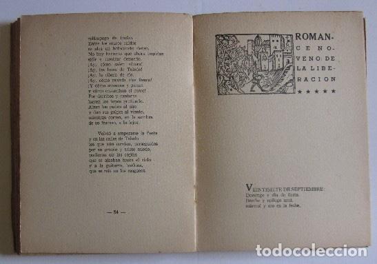 Libros antiguos: ROMANCERO DEL ALCAZAR - GUERRA CIVIL ESPAÑOLA - AÑO 1937 - Foto 6 - 116941451