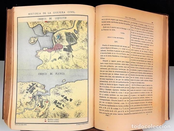 Libros antiguos: HISTORIA DE LA GUERRA CIVIL. 3 TOMOS. ANTONIO PIRALA. 1889/1891. - Foto 5 - 118360923