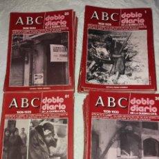 Libros antiguos: ABC DOBLE DIARIO DE LA GUERRA CIVIL ESPAÑOLA 80 REVISTAS DEL 1 AL 80. Lote 120049387