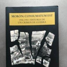 Livros antigos: LIBRO MORON CONSUMATUM EST. Lote 120935271