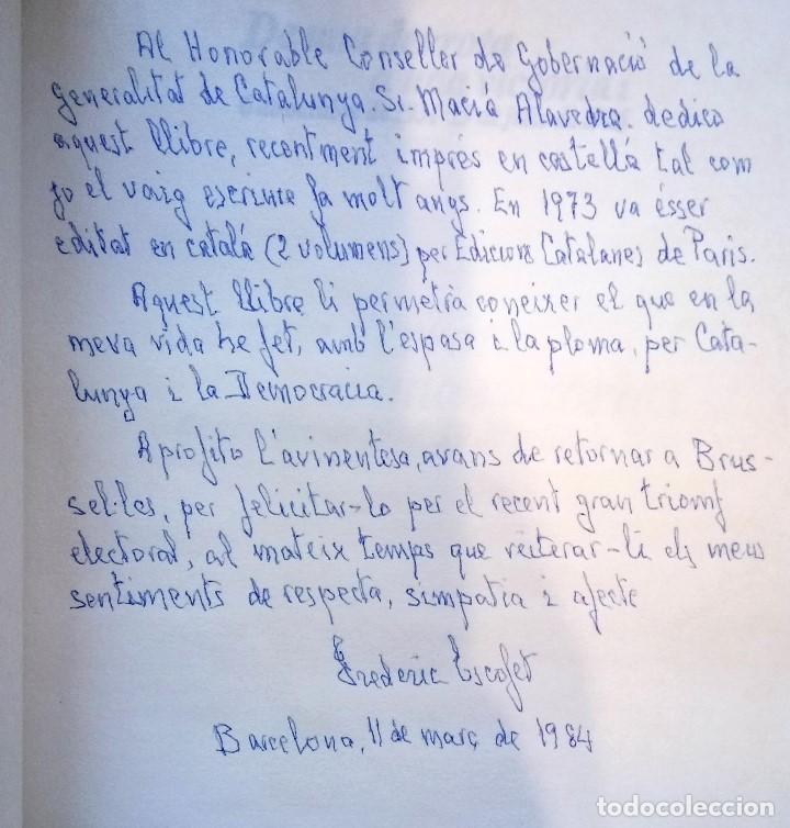Libros antiguos: LIBRO JEFE DE MOSSOS DESQUADRA DE CATALUNYA REPUBLICANA FREDERIC ESCOFET,FIRMADO Y DEDICADO,POLICIA - Foto 4 - 120985043
