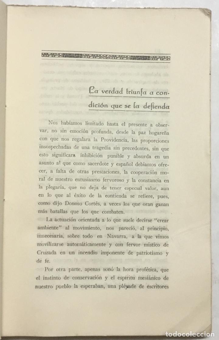 Libros antiguos: ELLOS Y NOSOTROS. AL MUNDO CATÓLICO Y AL MUNDO CIVILIZADO. - MUGUETA. Pamplona, 1937. - Foto 3 - 127864051
