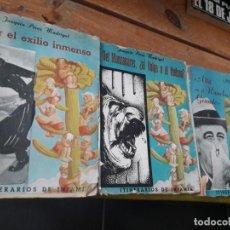 Libros antiguos: 3 OBRAS DE PÉREZ MADRIGAL ITINERARIOS DE LA INFAMIA. Lote 133467730