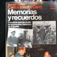 Livres anciens: CARLOS INIESTA CANO MEMORIAS Y RECUERDOS 1984. Lote 135233086