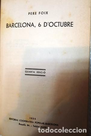 Libros antiguos: LLIBRE BARCELONA 6 D, OCTUBRE - DE PERE FOIX - - Foto 2 - 136425862