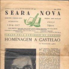 Libros antiguos: HOMENAGEM A CASTELAO - REVISTA SEARA NOVA - LISBOA 1951. Lote 137240838