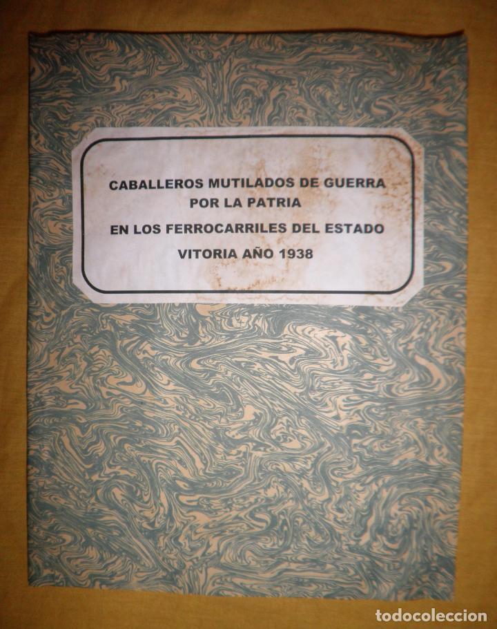 CABALLEROS MUTILADOS DE GUERRA POR LA PATRIA - VITORIA AÑO 1938 - GUERRA CIVIL. (Libros antiguos (hasta 1936), raros y curiosos - Historia - Guerra Civil Española)