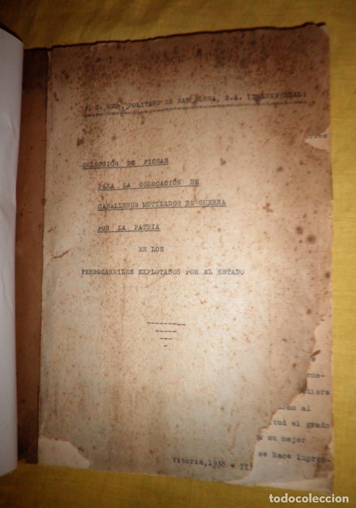 Libros antiguos: CABALLEROS MUTILADOS DE GUERRA POR LA PATRIA - VITORIA AÑO 1938 - GUERRA CIVIL. - Foto 2 - 143734282