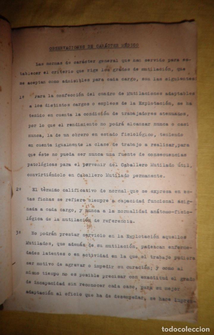 Libros antiguos: CABALLEROS MUTILADOS DE GUERRA POR LA PATRIA - VITORIA AÑO 1938 - GUERRA CIVIL. - Foto 5 - 143734282