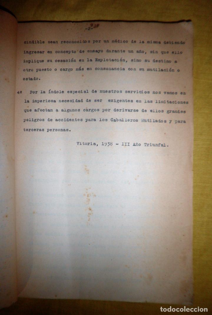 Libros antiguos: CABALLEROS MUTILADOS DE GUERRA POR LA PATRIA - VITORIA AÑO 1938 - GUERRA CIVIL. - Foto 6 - 143734282