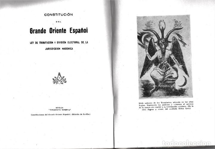 Libros antiguos: LIBRO,MASONES Y PACIFISTAS,AÑO 1939,GUERRA CIVIL ESPAÑOLA,DE RAMON SERRANO SUÑER,MASONERIA ESPAÑA - Foto 2 - 145392282