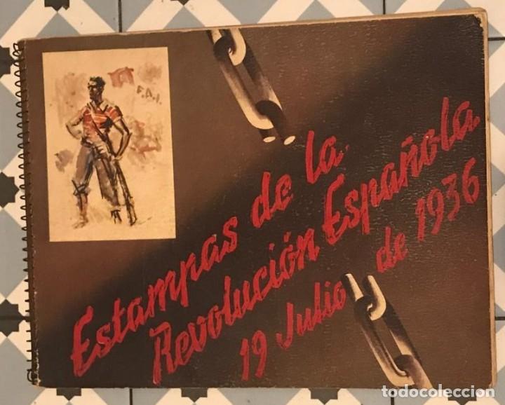 Libros antiguos: GUERRA CIVIL. C.N.T. F.A.I. ESTAMPAS DE LA REVOLUCIÓN ESPAÑOLA POR SIM 1936 ORIGINAL Y COMPLETO - Foto 2 - 141171509