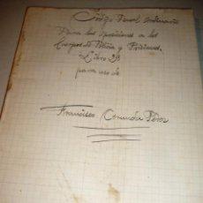Libros antiguos: LIBRETO DE CODIGO PENAL ORDINARIO 1882. Lote 146955886