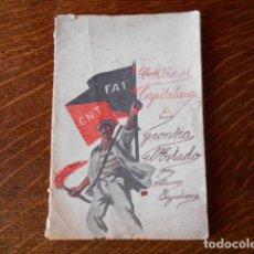 Libros antiguos: ÚNICO !! -CONTRA EL CAPITALISMO Y EL ESTADO- MAURO BAJATIERRA MORÁN FOLLETO ORIGINAL 1934/35. Lote 147581938
