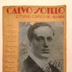 Libros antiguos: CALVO SOTELO ESTUDIO CRÍTICO DE SU OBRA. Lote 149043774