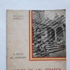 Libros antiguos: LATIDOS DE UN ESPAÑOL- JOSE MARIA MONTERDE. Lote 149547466