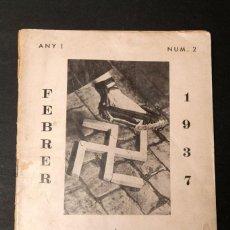Libros antiguos: GUERRA CIVIL - 1937 - BUTLLETI COMISSIO CULTURA I ESBARJO ESTABLIMENTS COL·LECTIVITZATS LIBER. Lote 149601918