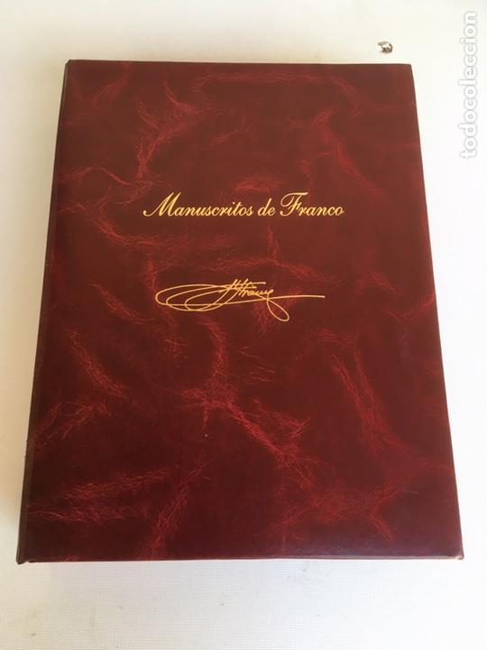 ESTUCHE DE MANUSCRITOS DE FRANCO (Libros antiguos (hasta 1936), raros y curiosos - Historia - Guerra Civil Española)
