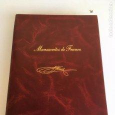 Libros antiguos: ESTUCHE DE MANUSCRITOS DE FRANCO. Lote 150834934