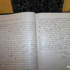 Libros antiguos: ANTIGUOS LIBROS MANUSCRITOS GUERRA CIVIL - AÑO 1937 - REFUGIADOS.EXCEPCIONALES.. Lote 151205354