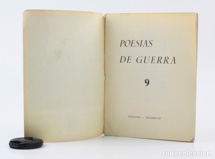Libros antiguos: Poesías de guerra, documentos históricos, ediciones 5º regimiento, Guerra Civil, Madrid. 24,5x18,5cm - Foto 3 - 154109242