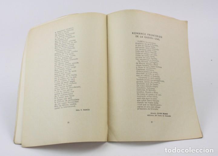 Libros antiguos: Poesías de guerra, documentos históricos, ediciones 5º regimiento, Guerra Civil, Madrid. 24,5x18,5cm - Foto 4 - 154109242