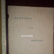 Livros antigos: LIBRITO MECANOGRAFIADO.FALANGE.NO PUBLICADO.HABLA DE MOVIMIENTO,MAYO 1936. Lote 154950066