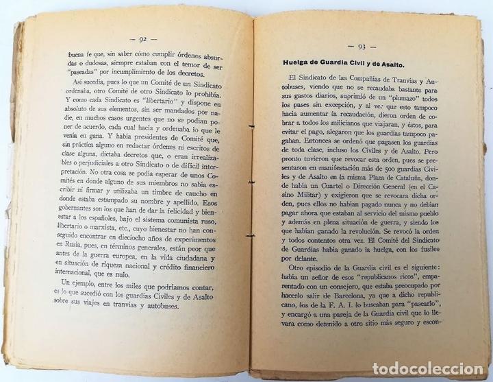 Libros antiguos: LA TRAGEDIA ROJA EN BARCELONA. E. PUIG MORA. TIPOGRAFÍA LA ACADÉMICA. ZARAGOZA 1937 - Foto 4 - 155809838