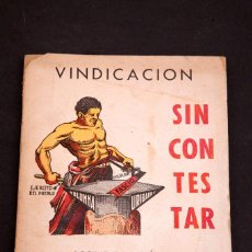 Libros antiguos: MANUEL URIBARRY BARUTELL : VINDICACION SIN CONTESTAR - 1937 - GUERRA CIVIL ANARQUISMO. Lote 156344538