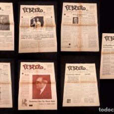 Libros antiguos: FEBRERO - ÓRGANO OFICIAL DE LAS JUVENTUDES DE IZQUIERDA REPUBLICANA 7 PRIMEROS Nº´S. Lote 159933898