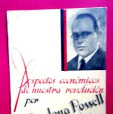 Libros antiguos: CNT - FAI - ASPECTOS ECONÓMICOS DE NUESTRA REVOLUCIÓN - M. CARDONA ROSSELL - 1937 - GUERRA CIVIL. Lote 165645842