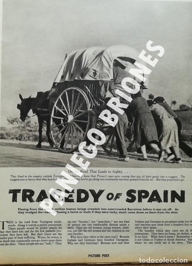 PICTURE POST 1939 - GUERRA CIVIL - ROBERT CAPA - REVISTA ORIGINAL - CAMINO DEL EXILIO (Libros antiguos (hasta 1936), raros y curiosos - Historia - Guerra Civil Española)