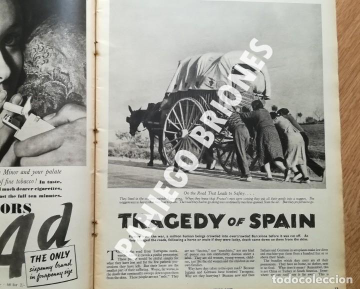 Libros antiguos: PICTURE POST 1939 - GUERRA CIVIL - ROBERT CAPA - REVISTA ORIGINAL - CAMINO DEL EXILIO - Foto 2 - 165738078