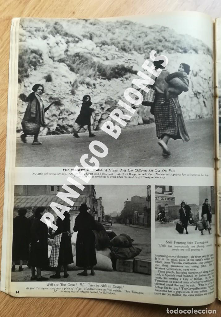 Libros antiguos: PICTURE POST 1939 - GUERRA CIVIL - ROBERT CAPA - REVISTA ORIGINAL - CAMINO DEL EXILIO - Foto 3 - 165738078
